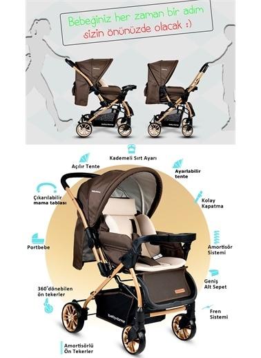 Baby Home Baby Home Bh-780 Gold Zigi Çift Yönlü Bebek Arabası Kahve